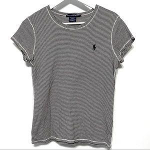 Ralph Lauren Sport striped blue short sleeve large